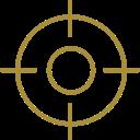 Icon Zielgruppen, Targeting und Personas, gezieltes Marketing
